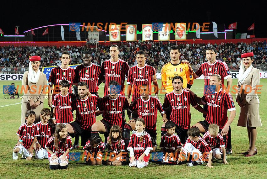 La formazione del Milan.Dubai 4/1/2012.The Dubai Football Challenge 2012.Football Calcio 2011/2012.Milan Vs Paris Saint Germain PSG.Foto Insidefoto / Anthony BIBARD / FEP/ Panoramic
