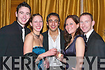 FUN: Dancing the night away at the Tralee Bay Sailing Club Fenit dinner and dress dance in the Ballygarry House Hotel & Spa were l-r: Dave Counihan, Carmen Aparicio, Mohammed Drag, Megan McGraw and Trevor Cooney.   Copyright Kerry's Eye 2008