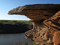 Sandstone along the Missouri River, Montana.