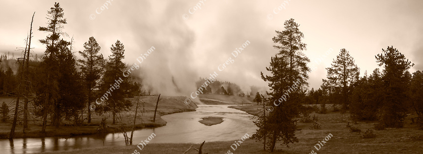 """Geyser Mist""  Yellowstone National Park  Firehole River 