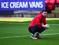 Lincoln City's Grant Smith during the pre-match warm-up<br /> <br /> Photographer Andrew Vaughan/CameraSport<br /> <br /> The EFL Sky Bet League Two - Crewe Alexandra v Lincoln City - Wednesday 26th December 2018 - Alexandra Stadium - Crewe<br /> <br /> World Copyright &copy; 2018 CameraSport. All rights reserved. 43 Linden Ave. Countesthorpe. Leicester. England. LE8 5PG - Tel: +44 (0) 116 277 4147 - admin@camerasport.com - www.camerasport.com