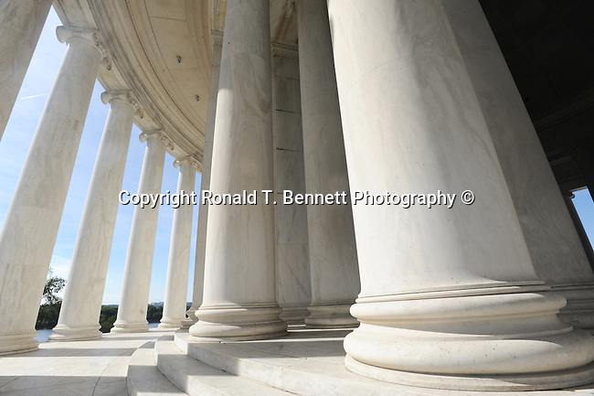 Pillars, Thomas Jefferson Memorial pillars, The Thomas Jefferson Memorial Washington D.C., The Thomas Jefferson Memorial, Jefferson memorial, Presidential Memorial in Washington DC, Thomas Jefferson, American founding Father, Third President of the United States, neoclassical, Designed by John Russell Pope, Philadelphia, done, portico, Tidal, Basin, Potomac River, West Potomac Park, Washington monument, National Mall and Memorial Parks, List of America's Favorite Architecture, American Institute of Architects, U.S. National Register of Historic Places, U.S. National Memorial, Washington D.C., Ron Bennett Photography, Stock Photography, Fine Art Photography, Fine Art Photography by Ron Bennett, Fine Art, Fine Art photo, Art Photography,