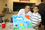 General Hospital Erik Valdez paints and donates time at SoapFest's Celebrity Weekend - Art for Autism when the actors & kids make paintings for auction to benefit Autism on November 10, 2012 Marco Island, Florida. For info www.autism-society.org or www.autismspeaks.org. (Photo by Sue Coflin/Max Photos)