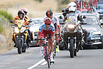 Breakaway riders Tiago Machado (POR) Katusha-Alpecin and Jesus Ezquerra (ESP) Burgos-BH during Stage 10 of the La Vuelta 2018, running 177km from Salamanca to Fermoselle. Bermillo de Sayago, Spain. 4th September 2018.<br /> Picture: Unipublic/Photogomezsport | Cyclefile<br /> <br /> <br /> All photos usage must carry mandatory copyright credit (&copy; Cyclefile | Unipublic/Photogomezsport)