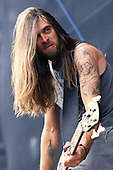 Pantera - bassist Rex Brown performing live on the main stage at the Monsters of Rock held at Donington Park UK - 04 Jun 1994.  Photo credit: Eddie Malluk/IconicPix