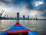 Boat on Saigon River, Ho Chi Minh City, Vietnam