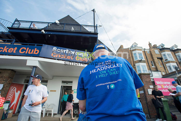 Picture by Allan McKenzie/SWpix.com - 23/08/2016 - Cricket - Specsavers County Championship - Yorkshire County Cricket Club v Nottinghamshire County Cricket Club - North Marine Road, Scarborough, England - Yorkshire CCC helpers selling programmes at the ground.