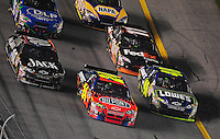 Feb 9, 2008; Daytona, FL, USA; Nascar Sprint Cup Series driver Jeff Gordon (24) drives between teammate Jimmie Johnson (48) and Clint Bowyer (07) during the Bud Shootout at Daytona International Speedway. Mandatory Credit: Mark J. Rebilas-US PRESSWIRE