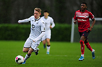 Oli Cooper of Swansea City u23s' in action during the Premier League 2 Division Two match between Swansea City u23s and Middlesbrough u23s at Swansea City AFC Training Academy  in Swansea, Wales, UK. Monday 13 January 2020.
