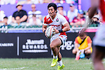 Katsuyuki Sakai of Japan runs with the ball during the HSBC World Rugby Sevens Series Qualifier Final match between Germany and Japan as part of the HSBC Hong Kong Sevens 2018 on 08 April 2018 in Hong Kong, Hong Kong. Photo by Marcio Rodrigo Machado / Power Sport Images