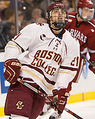 Matthew Gaudreau (BC - 21) - The Boston College Eagles defeated the Harvard University Crimson 3-2 in the opening round of the Beanpot on Monday, February 1, 2016, at TD Garden in Boston, Massachusetts.