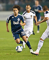 CARSON, CA - September 17, 2011: Vancouver Whitecaps forward Davide Chiumiento (20) during the match between LA Galaxy and Vancouver Whitecaps at the Home Depot Center in Carson, California. Final score LA Galaxy 3, Vancouver Whitecaps 0.