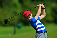 Patrick Tuffy (Strandhill) on the 1st tee during the Connacht U12, U14, U16, U18 Close Finals 2019 in Mountbellew Golf Club, Mountbellew, Co. Galway on Monday 12th August 2019.<br /> <br /> Picture:  Thos Caffrey / www.golffile.ie<br /> <br /> All photos usage must carry mandatory copyright credit (© Golffile | Thos Caffrey)