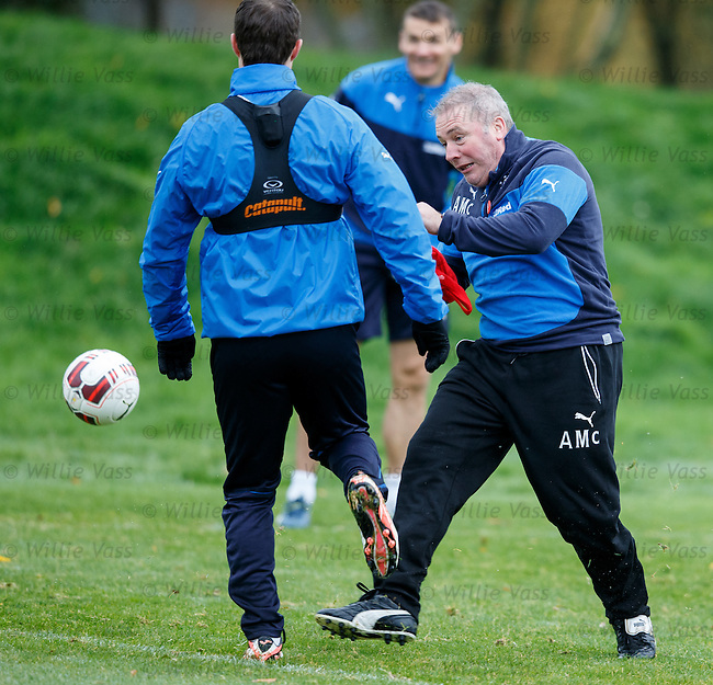 Ally McCoist steams in on Jon Daly