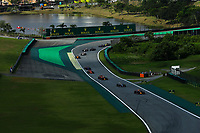 17th November 2019; Autodromo Jose Carlos Pace, Sao Paulo, Brazil; Formula One Brazil Grand Prix, Race Day; Max Verstappen (NED) Red Bull Racing RB15 and Lewis Hamilton (GBR) Mercedes AMG F1 W10  - Editorial Use