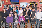 Eileen McGillicuddy seated front centre from Castlecove celebrated her 50th birthday with family and friends at Franks Corner, Cahersiveen on Saturday night last.