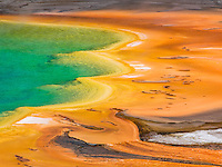 A main goal of mine was to take photos of the Grand Prismatic Pool in Yellowstone National Park. The hike around the actual pool is a simple stroll, but to get more of an areal view like this one, a hike up the opposite side of the pool is required.