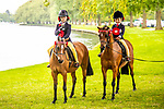 Day 4. Royal Windsor Horse Show. Windsor. Berkshire. UK. On the left winner of the First Ridden pony Georgie Grace riding Andalyse Sugar Plum. On the right  winner of the lead rein pony Beatrice Taverner-Jordan riding Small Land Toy Story. 12/05/2018. ~ MANDATORY Credit Elli Birch/Sportinpictures - NO UNAUTHORISED USE - 07837 394578