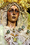 Cofradia de la Macarena. Semana Santa. Pasos. Procesiones..Sevilla, Andalucia, Espana.