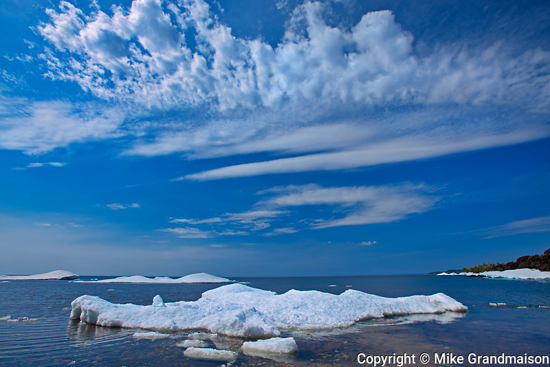 Spring ice on Lake Superior<br />