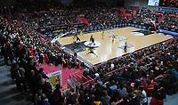 Basketball  1. Bundesliga  2017/2018  Hauptrunde  14. Spieltag  23.12.2017 Walter Tigers Tuebingen - Basketball Laewen Braunschweig Uebersicht der Paul Horn Arena