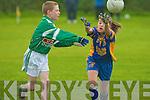 Ballymac's Sinead Brosnan and Na Gaeil's Cian Quirke...   Copyright Kerry's Eye 2008