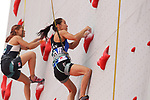Akiyo Noguchi (JPN), <br /> AUGUST 23, 2018 - Sport Climbing : <br /> Women's Combined Qualification Speed <br /> at Jakabaring Sport Center Sport Climbing <br /> during the 2018 Jakarta Palembang Asian Games <br /> in Palembang, Indonesia. <br /> (Photo by Yohei Osada/AFLO SPORT)