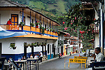 People enjoy a day in the town of Jardin in Antioquia August 1, 2012. Photo by Eduardo Munoz Alvarez / VIEW.
