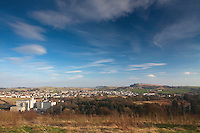Neilston, Crofthead Mill and Neilston Pad from the Lochboilside Hills, Neilston, East Renfrewshire
