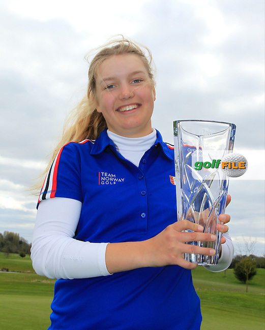 Celine Borge (NOR) wins the Irish Girl's Open Stroke Play Championship at Roganstown Golf &amp; Country Club on Sunday 17th April 2016.<br /> Picture:  Thos Caffrey / www.golffile.ie