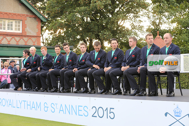 Team GB &amp; Ireland after the afternoon singles for the Walker cup Royal Lytham St Annes, Lytham St Annes, Lancashire, England. 13/09/2015<br /> Picture Golffile | Fran Caffrey<br /> <br /> <br /> All photo usage must carry mandatory copyright credit (&copy; Golffile | Fran Caffrey)