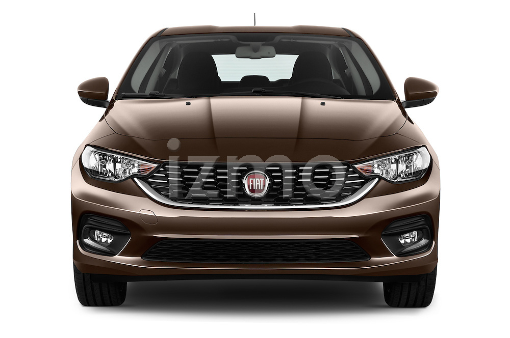 Car photography straight front view of a 2016 Fiat Tipo Easy 4 Door Sedan Front View