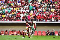 BRASÍLIA, DF, 05.06.2016 – FLAMENGO-PALMEIRAS – O jogador Felipe Vizeu do Flamengo, durante partida contra o Palmeiras, em jogo válido pela 6ª rodada do Campeonato Brasileiro 2016, no Estádio Nacional Mané Garrincha, na tarde deste domingo, 05.  (Foto: Ricardo Botelho/Brazil Photo Press)