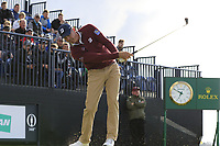 Matt Kuchar (USA) tees off the 13th tee during Thursday's Round 1 of the 148th Open Championship, Royal Portrush Golf Club, Portrush, County Antrim, Northern Ireland. 18/07/2019.<br /> Picture Eoin Clarke / Golffile.ie<br /> <br /> All photo usage must carry mandatory copyright credit (© Golffile | Eoin Clarke)