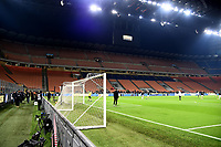 An internal view of the Stadium with empty stands. Inter fans are disqualified for racist shouts  . Inter fans are disqualified for racist shouts againt Napoli player Kalidou Koulibaly <br /> Milano 13-1-2019 Stadio Giuseppe Meazza <br /> Football Italy Cup 2018/2019 Inter - Benevento <br /> Foto Image Sport  / Insidefoto