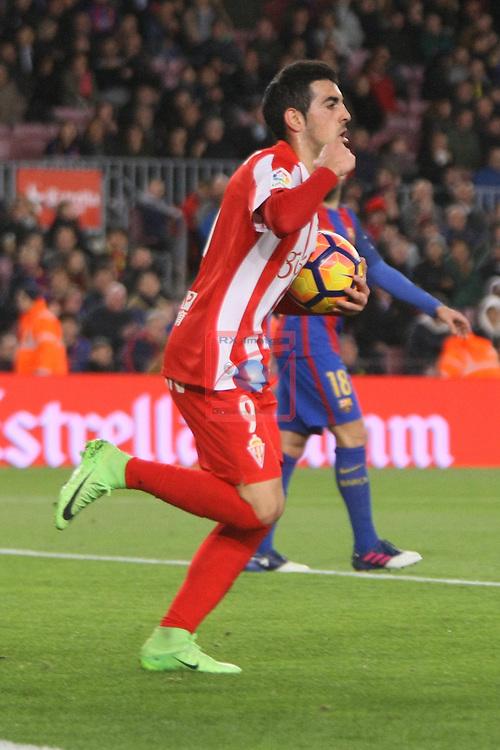 League Santander 2016/2017. Game: 25.<br /> FC Barcelona vs Real Sporting SAD: 6-1.<br /> Castro.
