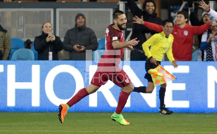 San Jose, CA - March 24, 2017: The U.S. Men's National team go up 6-0 over Honduras with Clint Dempsey contributing goals during their 2018 FIFA World Cup Qualifying Hexagonal match at Avaya Stadium.