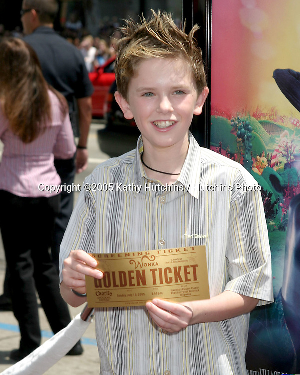 Freddie Highmore.Charlie & the Chocolate Factory World Premiere.Grauman's Chinese Theater.Los Angeles, CA.July 10, 2005.©2005 Kathy Hutchins / Hutchins Photo....