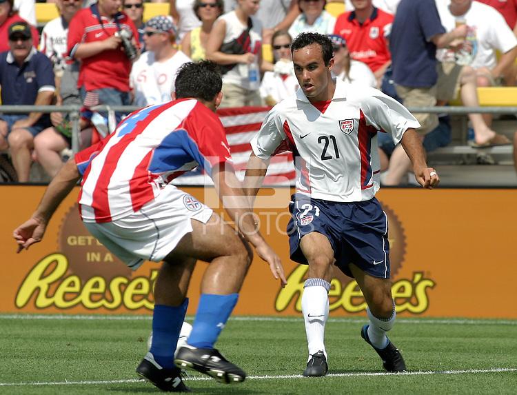 Landon Donovan, USMNT vs Paraguay, July, 6, 2003, Columbus, Ohio.