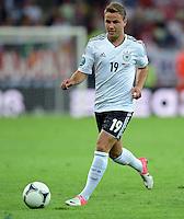 FUSSBALL  EUROPAMEISTERSCHAFT 2012   VIERTELFINALE Deutschland - Griechenland     22.06.2012 Mario Goetze (Deutschland) Einzelaktion am Ball