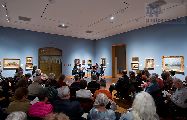 Oct. 18, 2012; The woodwind quintet of the South Bend Symphony Orchestra performs at the Snite Museum of Art...Photo by Matt Cashore/University of Notre Dame
