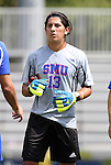 04 September 2011: SMU's Jaime Ibarra. The Southern Methodist University Mustangs defeated the Duke University Blue Devils 1-0 in overtime at Koskinen Stadium in Durham, North Carolina in an NCAA Division I Men's Soccer game.