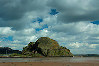 Dumbarton Rock and the River Clyde from Levengrove Park, Dumbarton