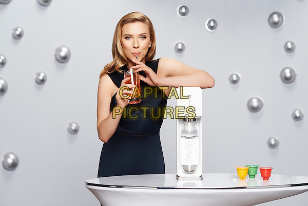 NEW YORK, JANUARY 10: Scarlett Johansson is announced as Soda Stream Co. first-ever Global Brand Ambassador at Grammercy Park Hotel, New York on January 11th 2014.<br /> CAP/FB<br /> Supplied by Capital Pictures