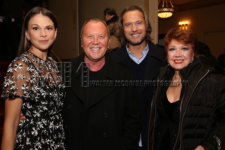 "Sutton Foster, Michael Kors, Lance Le Pere and Donna McKechnie attends the New York City Center Celebrates 75 Years with a Gala Performance of ""A Chorus Line"" at the City Center on November 14, 2018 in New York City."