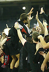 30 October 2004: Dema Kovalenko climbed into the stands to celebrate with the fans after the game. DC United defeated the MetroStars 2-0 at RFK Stadium in Washington, DC in the second leg of their Major League Soccer Eastern Conference Semifinal playoff series. United eliminated the MetroStars 4-0 on aggregate goals...