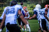Action from the Wellington American Football match between Upper Hutt Spartans and Porirua Warriors at Te Awakairanga Park in Upper Hutt, Wellington, New Zealand on Saturday, 10 November 2018. Photo: Dave Lintott / lintottphoto.co.nz
