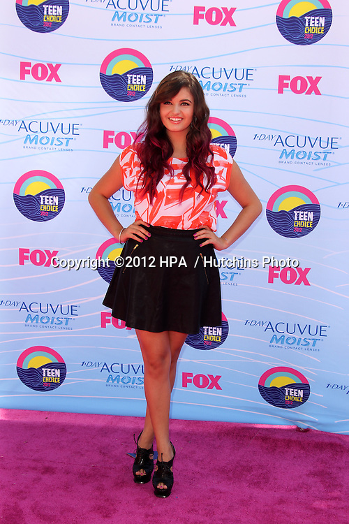 LOS ANGELES - JUL 22:  Rebecca Black arriving at the 2012 Teen Choice Awards at Gibson Ampitheatre on July 22, 2012 in Los Angeles, CA