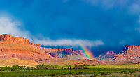 Rainbow in Professor Valley, Utah, Near Colorado River, La Sal Mountains, Moab