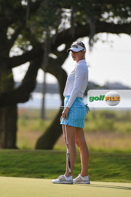 Jessica Korda (USA) watches her putt on 10 during round 2 of the 2019 US Women's Open, Charleston Country Club, Charleston, South Carolina,  USA. 5/31/2019.<br /> Picture: Golffile | Ken Murray<br /> <br /> All photo usage must carry mandatory copyright credit (© Golffile | Ken Murray)